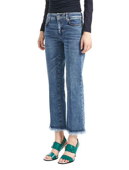 Slim Fringe-Flared Jeans