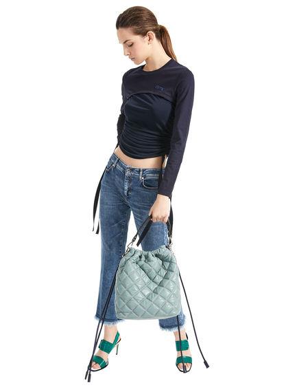 Slim Fringe-Flared Jeans