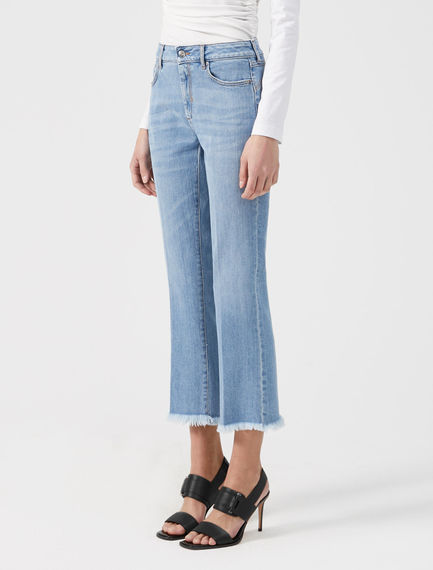 Crease-front Cropped Jeans