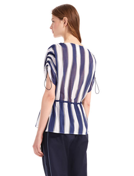 Striped Cotton Crepe Blouse Sportmax