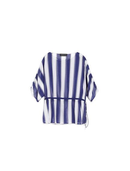 Blusa in leggero cotone a righe