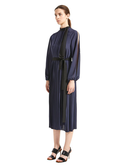 Split-Sleeve Crepe Dress