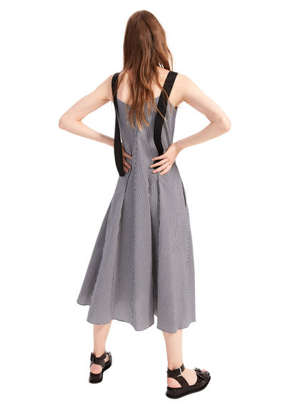 Seersucker Trapeze Dress Sportmax