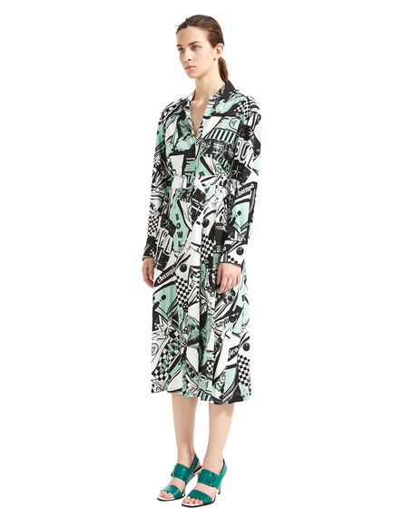 Bowling Print Shirtdress