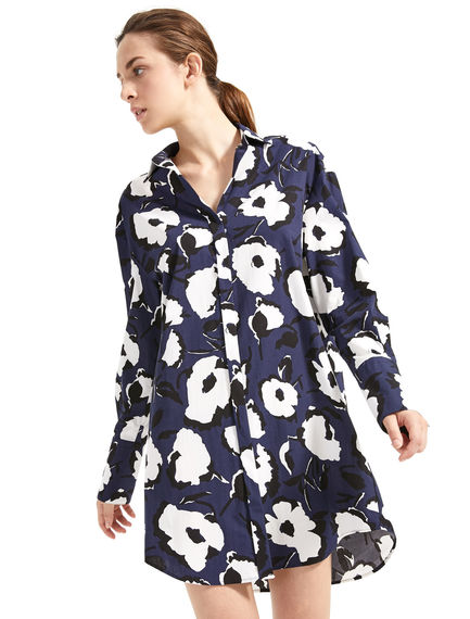 Abstract Flower Shirt Dress Sportmax