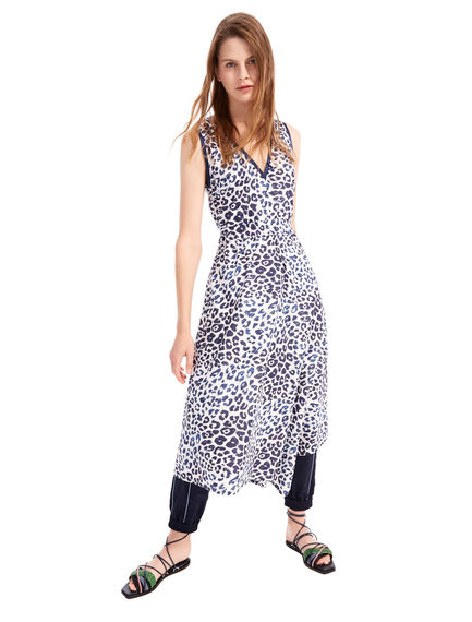 Animal Print Asymmetric Dress Sportmax