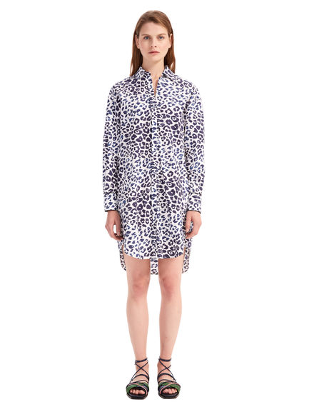 Graphic Print Muslin Shirt