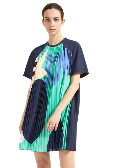 Pleated Bowling-Print Tunic Dress Sportmax