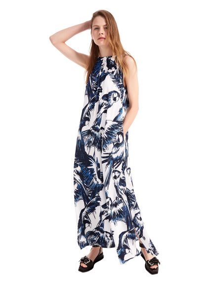 Flowing Parrot Print Dress Sportmax