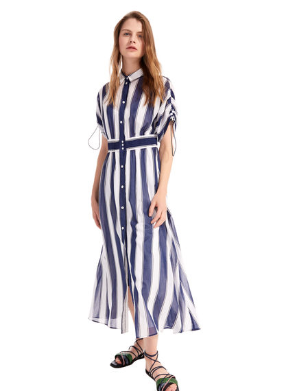 Striped Cotton Crepe Shirtdress Sportmax