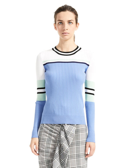 Multi-stripe Flat-rib Sweater