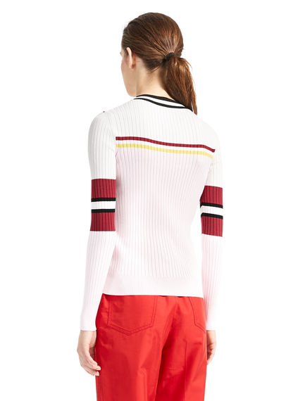 Colour-Block Ribbed Sweater