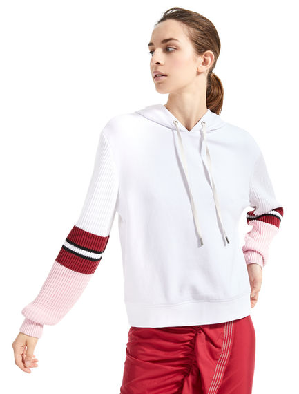 Hoodie con maniche in maglia Sportmax