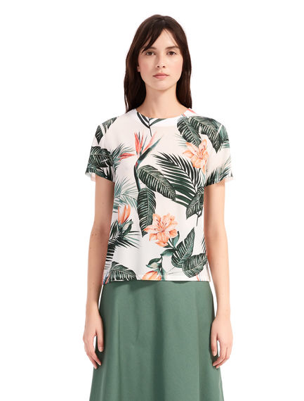 Hibiscus Silk & Cotton T-Shirt