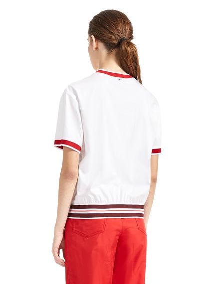 T-shirt con fiocco laterale