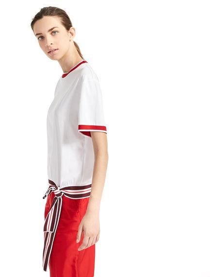 T-shirt con fiocco laterale Sportmax