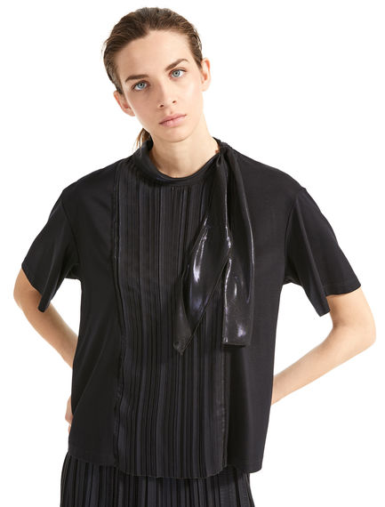 Laminated Pleat T-Shirt