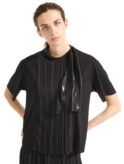 T-shirt a pieghe laminata Sportmax