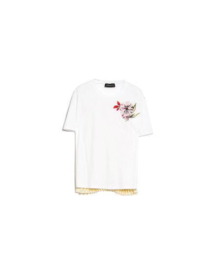 Flower-embroidered Pleat T-Shirt Sportmax