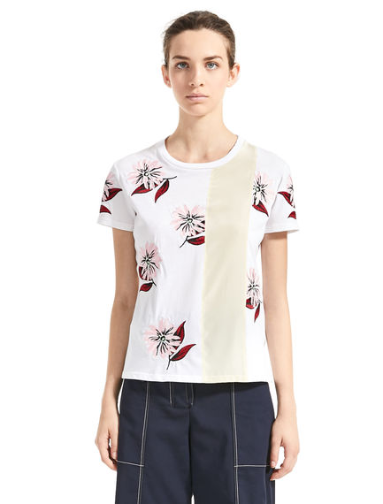 Scattered Floral-Embroidered T-Shirt Sportmax