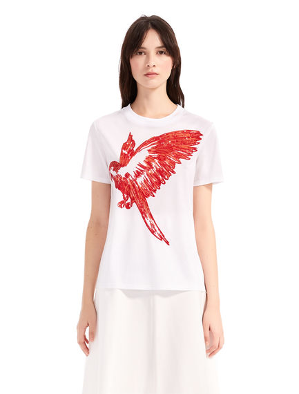 Sequinned Parrot T-Shirt