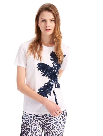 Sequinned Palm Tree T-Shirt Sportmax