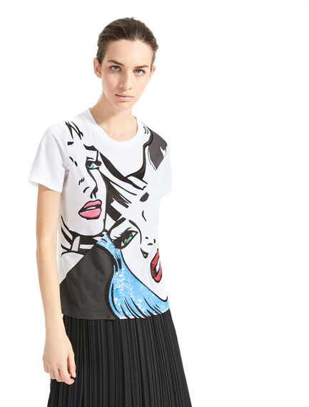 T-shirt con paillette pop-art Sportmax