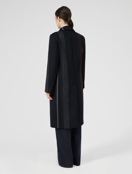 Strobe Stripe Wool Coat Sportmax