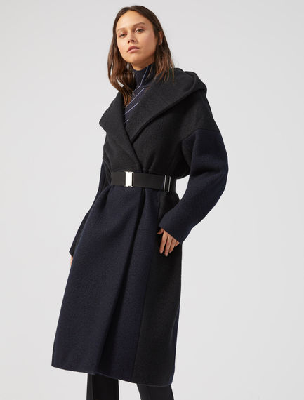 Two-Tone Cashmere Wrap Coat Sportmax