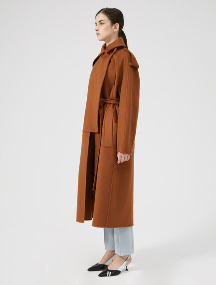 Felted Cashmere Trench Coat