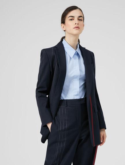Strobe Stripe Wool Blazer Sportmax