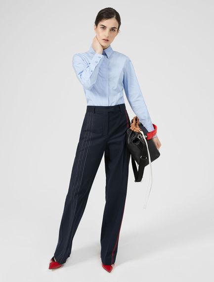 Triple-Stitch Cotton Poplin Shirt