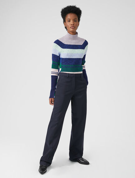 Long Wool Cotton Trousers Sportmax