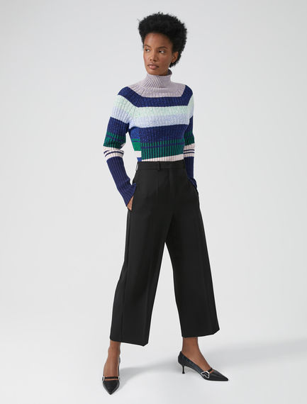 Wide Leg Twill Trousers Sportmax