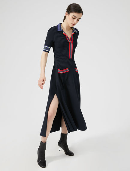 Multi-Stripe Knit Dress Sportmax