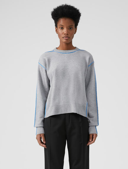 Technical Trim Angora Sweater