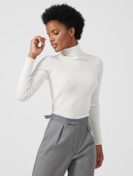 Roll-neck Ribbed Sweater Sportmax