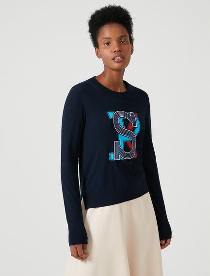 Varsity Wool Sweater Sportmax