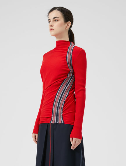 Racing Stripe Knit Sweater