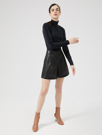 Nappa Leather Shorts Sportmax