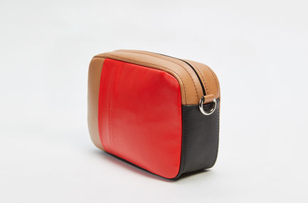 Colour-block Nappa Leather Waist Bag