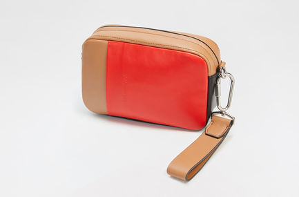 Colour-block Nappa Leather Waist Bag