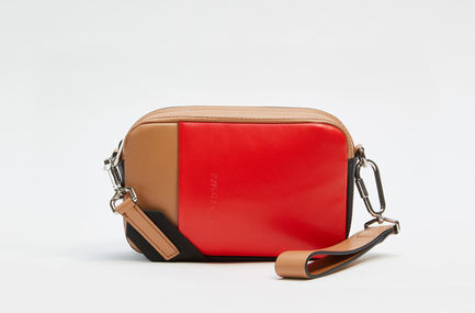 Colour-block Nappa Leather Waist Bag Sportmax