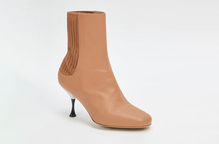 Sculpted Leather Sock Boot