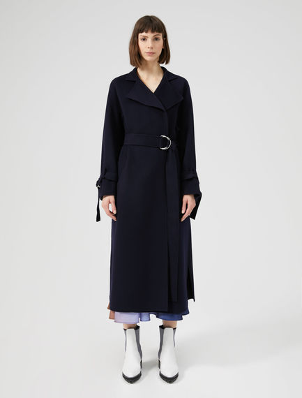 Raglan Sleeve Wool Coat