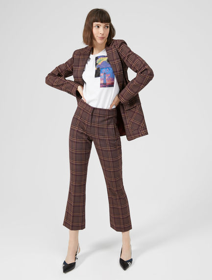 Checked Kick-Flare Trousers Sportmax