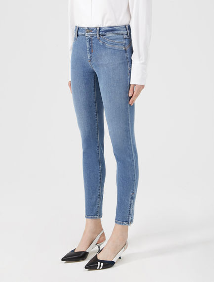 Zipped Ankle Skinny Jeans