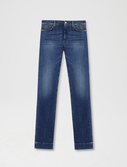 High-Waisted Slim Jeans