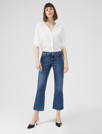 Cropped Flare Inlay Jeans Sportmax