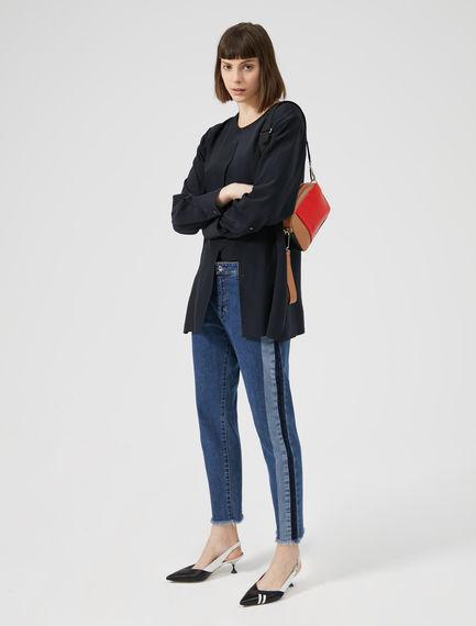 Athletic Stripe Cigarette Jeans